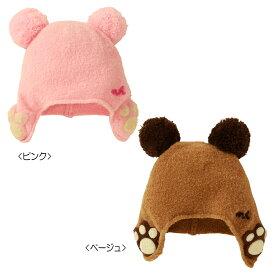 耳あて付きフード(帽子)〈フリー(42cm-50cm)〉(日本製)ミキハウス ベビー mikihouse