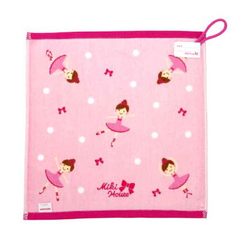 (domestically) Dot pattern hand towel with Miki house ★ Lena ♪ loop