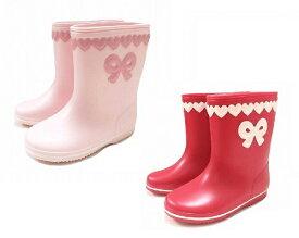 ★Souris スーリーハートのモチーフ長靴(レインシューズ/レインブーツ)日本製(13-19cm)