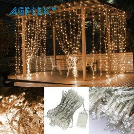 AGPtek LEDイルミネーションライト カーテンライト 3MX3M/300LED 酒場 バー 雰囲気作り クリスマスパーティー、結婚式で大活躍 8種類点滅パターン 複数連結可能 コントローラ付き(日本語取扱書付き)