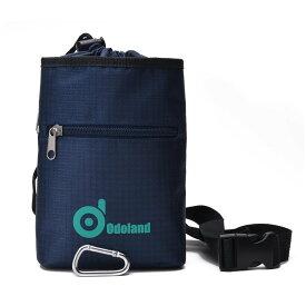 ODOLANDチョークバッグ 防水 ジッパーポケット付き クライミング、重量挙げ、ボルダリング、体操などおススメ カラビナ付き