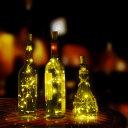 AGPtEK【6個セット】ボトルライト コルク型 ナイトライト パーティー クリスマス用 結婚式用 パーティー用 DIY飾り用 電子内蔵(電球色)
