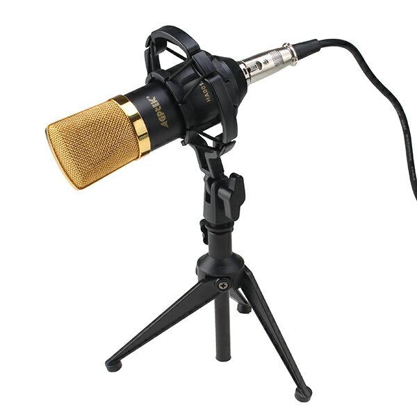 AGPtet マイク 録音 ライブ 放送 動画投稿 歌ってみた コンデンサーマイク+ショックマウント+2.53mケーブル  (ブラック/ブルー /レッド )