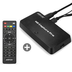 AGPTEK 1080P HDMIビデオキャプチャー ゲームレコーダー ストリーミングゲームキャプチャー リモコン付き スケジユール録画  画質調整、録画分割 HDMI/YPBPR入力/AV入力 Nintendo Switch PS4およびPS3  XBOX ONE実況音声の追加や編集!「日本語取扱説明書付き」
