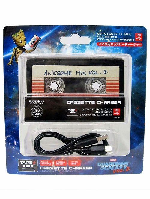 【在庫品】【スパイダーウェブス】 【再入荷】TAPES/ ガーディアンズ・オブ・ギャラクシー リミックス: AWESOME MIX vol.2 カセットテープ型 バッテリーチャージャー