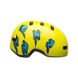 BELL(ベル) ヘルメット【LIL RIPPER(リルリッパー):UCサイズ(47-54cm)/ハイヴィズ/ブルーボルト】 ストライダー 自転車 子供用 キッズ