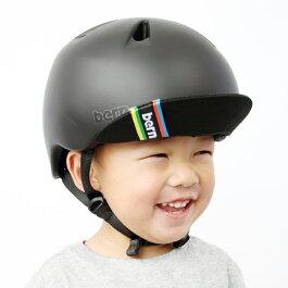 bern(バーン)ヘルメット【NINO(男の子):XSサイズ/Sサイズ(48〜51.5cm)/マットブラック】バイザー/ストライダー自転車子供用キッズ
