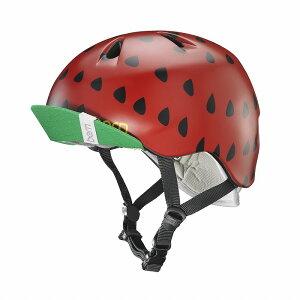 bern(バーン) ヘルメット【NINA(女の子) :Sサイズ/Mサイズ(51.5〜54.5cm) /サテン レッド ストロベリー】 バイザー/ ストライダー 自転車 子供用 キッズ