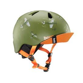bern(バーン) ヘルメット【NINO(男の子) :Sサイズ/Mサイズ(51.5〜54.5cm) /マットグリーン ドッグファイト】 バイザー/ ストライダー 自転車 子供用 キッズ