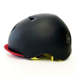 bern(バーン)ヘルメット【NINO(男の子):Sサイズ/Mサイズ(51.5〜54.5cm)/ブラックイエローレーシングストライプ】バイザー/ストライダー自転車子供用キッズ
