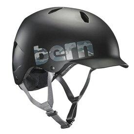bern(バーン) ヘルメット【BANDITO(男の子) :Mサイズ/Lサイズ(54.5〜57cm) /マットブラック カモ ロゴ】 ストライダー 自転車 子供用 キッズ ジュニア