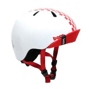bern(バーン) ヘルメット【NINO(男の子) :XSサイズ/Sサイズ(48〜51.5cm) /グロスチェッカーレッド】 バイザー/ ストライダー 自転車 子供用 キッズ