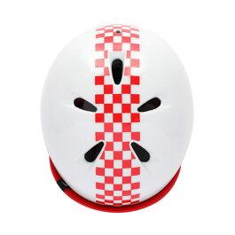 bern(バーン)ヘルメット【NINO(男の子):XSサイズ/Sサイズ(48〜51.5cm)/グロスチェッカーレッド】バイザー/ストライダー自転車子供用キッズ