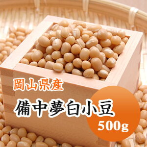 小豆 白小豆 丹波 備中夢白小豆 岡山県産 500g【令和2年産】