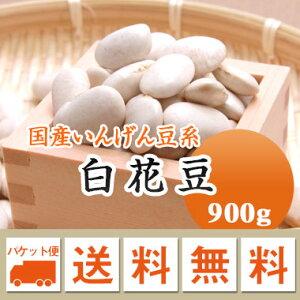 白花豆 しろはな豆 北海道産 900g【令和2年産】 メール便 送料無料