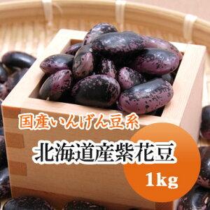 紫花豆 北海道産 1kg【令和1年産】