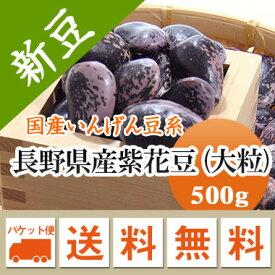 紫花豆 高原花豆 長野県産 500g【令和2年産】メール便 送料無料