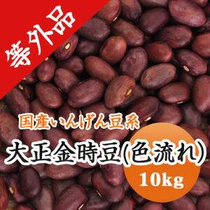 大正金時 金時豆 色流れ 北海道産 訳あり 10kg【令和2年産】