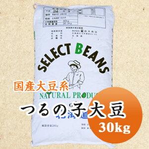大豆 鶴の子大豆 つるの子大豆 北海道南部産 煮豆 味噌 豆乳  30kg【令和2年産】【業務用】大容量