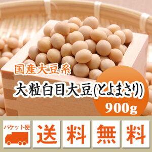 大豆 大粒白目大豆 とよまさり 北海道産 900g【令和1年産】 メール便 送料無料