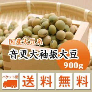 大豆 音更大袖振大豆 北海道産 煮豆 味噌 豆乳 900g【令和2年産】メール便 送料無料