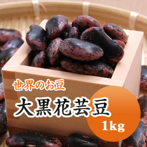紫花豆 中国産 大黒花芸豆 1kg