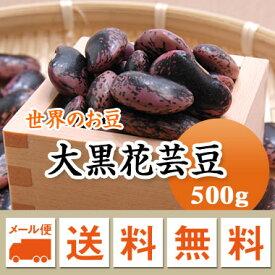 紫花豆 中国産 大黒花芸豆 500g【メール便 送料無料】