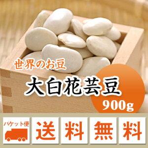 白花豆 中国産 手撰大白花芸豆 900g【メール便 送料無料】