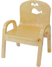 MAMENCHI 木製キッズチェア 組立済 クジラ ナチュラルスタッキングチェア 木製イス 幼児イス 子ども用椅子 子ども用イス 木製イス 子供椅子 ローチェア ベビーチェア
