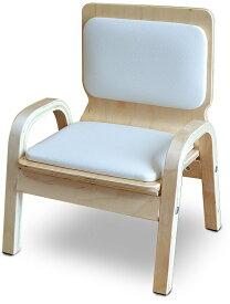 MAMENCHI 木製ふんわりキッズチェア PVCチェア 組立済 ホワイトスタッキングチェア 木製イス 幼児イス 子ども用椅子 子ども用イス 木製イス 子供椅子 ローチェア ベビーチェア