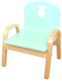 わけあり MAMENCHI 木製キッズチェア 組立済 クマ ブルースタッキングチェア 木製イス 幼児イス 子ども用椅子 子ども用イス 木製イス 子供椅子 ローチェア ベビーチェア