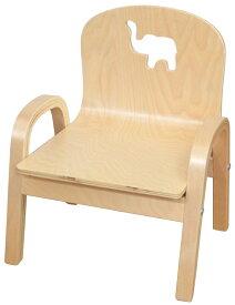 MAMENCHI 木製キッズチェア 組立済 ゾウ ナチュラルスタッキングチェア 木製イス 幼児イス 子ども用椅子 子ども用イス 木製イス 子供椅子 ローチェア ベビーチェア