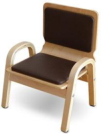 MAMENCHI 木製ふんわりキッズチェア PVCチェア 組立済 ブラウンスタッキングチェア 木製イス 幼児イス 子ども用椅子 子ども用イス 木製イス 子供椅子 ローチェア ベビーチェア