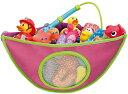 MAMENCHI お風呂トイケース ピンク おもちゃ収納 収納袋 (4つの吸盤があり、吸引力抜群!)簡単に手洗いができます…