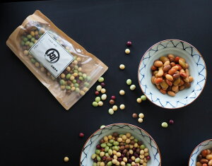 【ゆうパケット 送料無料】マーブル 4種ミックス豆 500g(鶴の子大豆、茶豆、秘伝豆、赤大豆)レシピ付き!