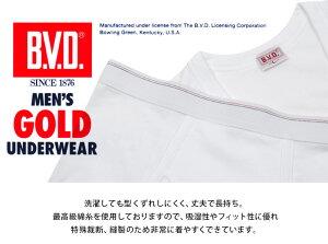 【定番】ON【B.V.D.(BVD)】GOLD半袖丸首Tシャツ(LL)