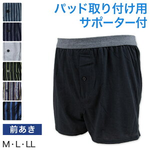 尿漏れ ニットトランクス 前あき M〜LL (尿漏れパンツ 男性用 メンズ 軽失禁 尿もれ 本体綿100%)