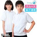半袖 体操服 大きいサイズ 男子 女子 襟 S〜3L (体操着 ゆったり 白 小学生 小学校 女の子 男の子 ファスナー 襟付き …
