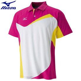 7fb54a763c625 テニスウエア ゲームウエア ミズノ MIZUNO ドライサイエンスゲームシャツ(ラケットスポーツ)[ユニ