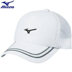 テニスウエア キャップ ミズノ MIZUNO キャップ ユニセックス (71)ホワイト×ホワイト 62JW800171