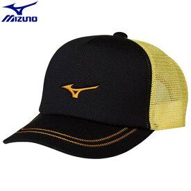 テニスウエア キャップ ミズノ MIZUNO キャップ[ユニセックス](95)ブラック×ゴールド 62JW800195