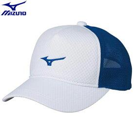 テニスウエア キャップ ミズノ MIZUNO キャップ[ユニセックス](75)ホワイト×シアン 62JW800275