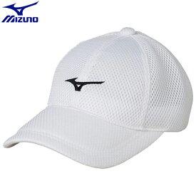 テニスウエア キャップ ミズノ MIZUNO キャップ ユニセックス (70)ホワイト×ブラック 62JW850070