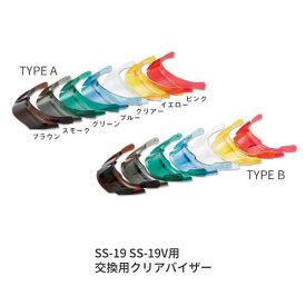 ヘルメット【オプション品】進和化学工業 シンワ 着脱式クリアバイザー TYPE A シールド・バイザー