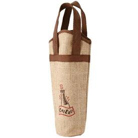 ワインギフトバッグ ファンヴィーノ 麻ワインバッグ 1本用 ワンポイント×10個セット 7125