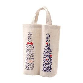 ワインギフトバッグ ファンヴィーノ 麻ワインバッグ 2本用 メガネ&ハイヒール×10個セット 7134