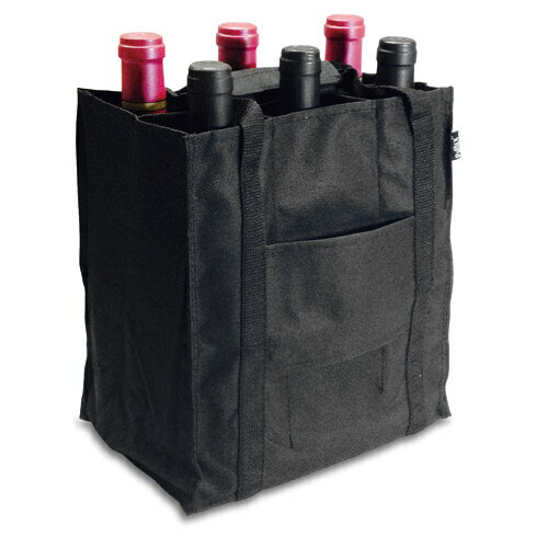 ワインギフトバッグ プルテックス ワインバッグ6本用 ブラック TEX724BK