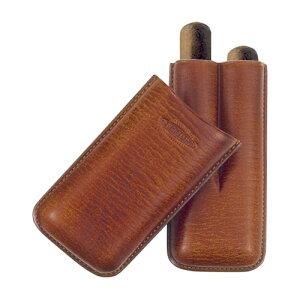 【ジェマール】ジョーファー ROBUSTO 2本用 マロン 品番:JM464 2M【葉巻 シガーケース 喫煙具】