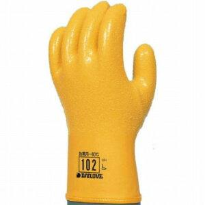 【ゴム手袋】ダイローブ102 3L 防寒用 ポリウレタン製手袋 [10双入] 品番:102 (3Lサイズ) ダイローブ (作業用手袋) ビニール手袋 オールコーティング 防寒 ボア 起毛アクリル(着脱不可)