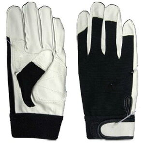 【革手袋】ピッグローブ 黒 手の平補強 [10双入り] 品番:2045 (M・L・LLサイズ) アトム ATOM 作業手袋 皮手袋 豚革 ムレない通気性 アテつき